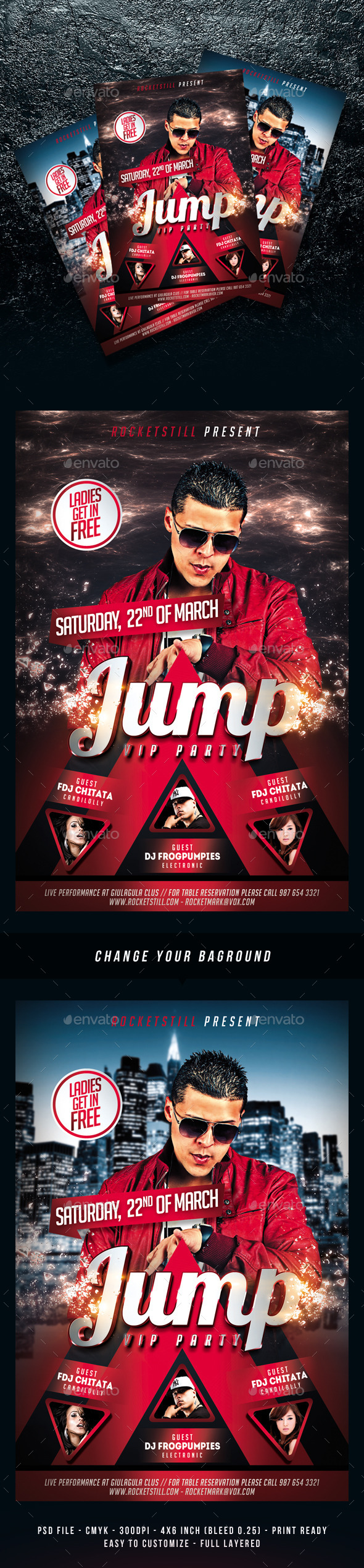 GraphicRiver Jump Party Time Flyer Template 11065971