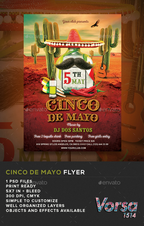 GraphicRiver Cinco De Mayo Flyer Template 11066780