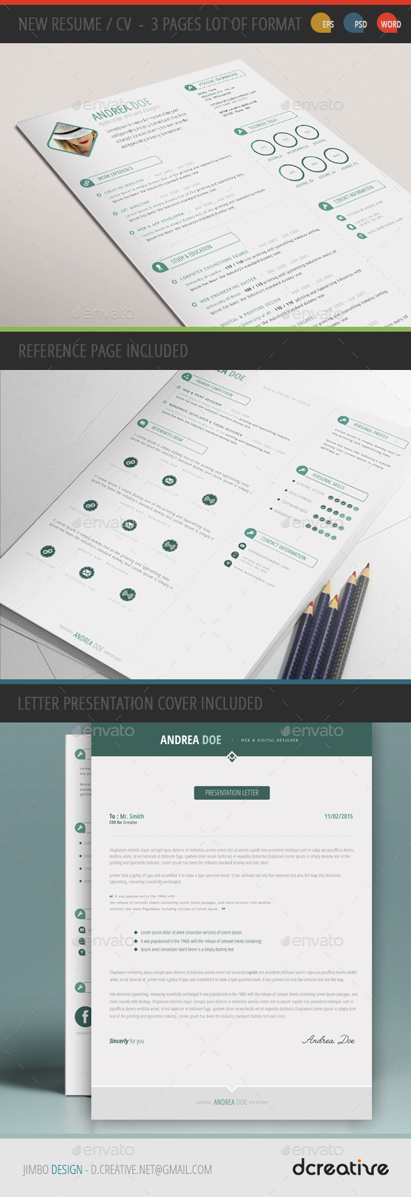 GraphicRiver New Resume CV Template 10984675