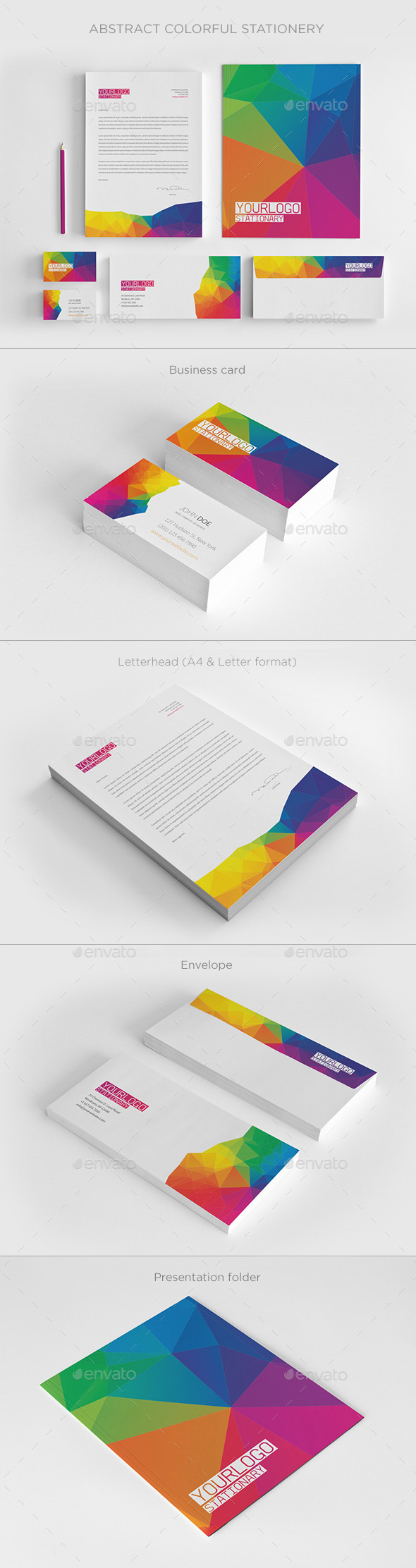 GraphicRiver Abstract Colorful Stationery 11067072