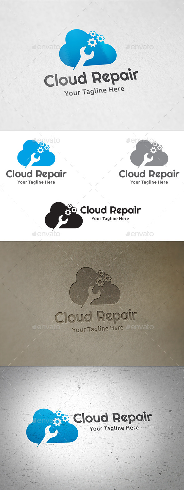 GraphicRiver Cloud Repair Logo Template 11067287