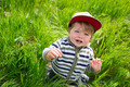 Little boy in grass - PhotoDune Item for Sale
