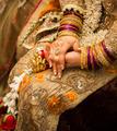 Golden indian bride