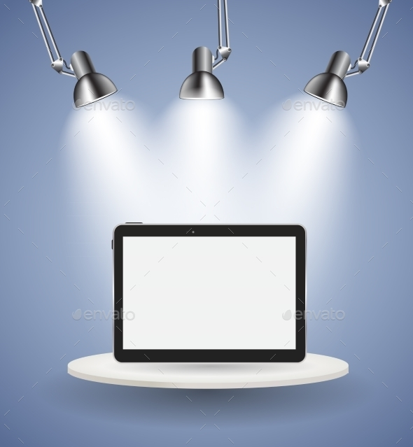 GraphicRiver Black Tablet PC Vector Illustration 11067558