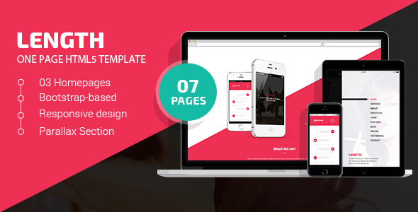 ThemeForest Length One Page HTML5 Template 11045364