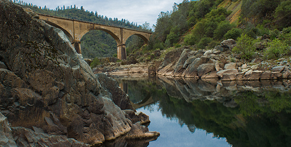 Historic Mining Bridge over American River
