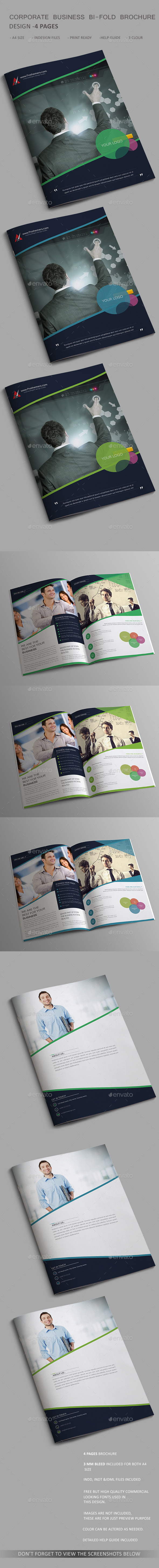 GraphicRiver Corporate Business Bi-fold Brochure 4 Page 11068085
