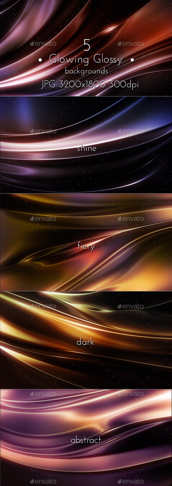 GraphicRiver Glowing Glossy Backgrounds 11068089