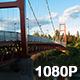 Sacramento Suspension Bridge at Sunset - VideoHive Item for Sale