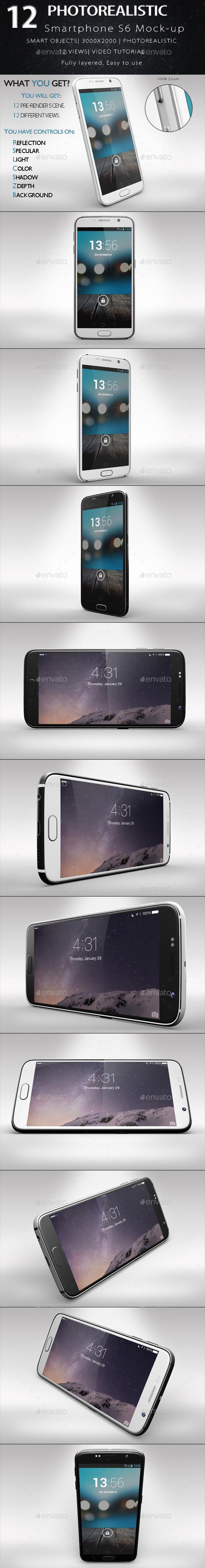 GraphicRiver Smartphone S6 Mock-up 11068603