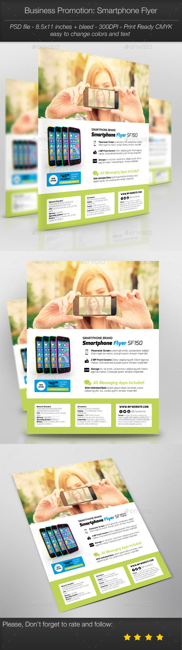 GraphicRiver Business Promotion Smartphone Flyer 11068675