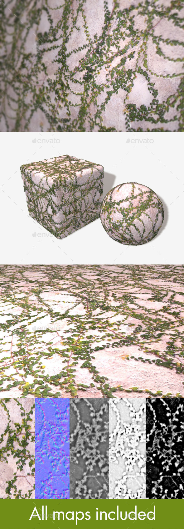 Creeping Vines Seamless Texture - 3DOcean Item for Sale