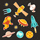 Space Ship Icons With Planets And Astronaut - GraphicRiver Item for Sale