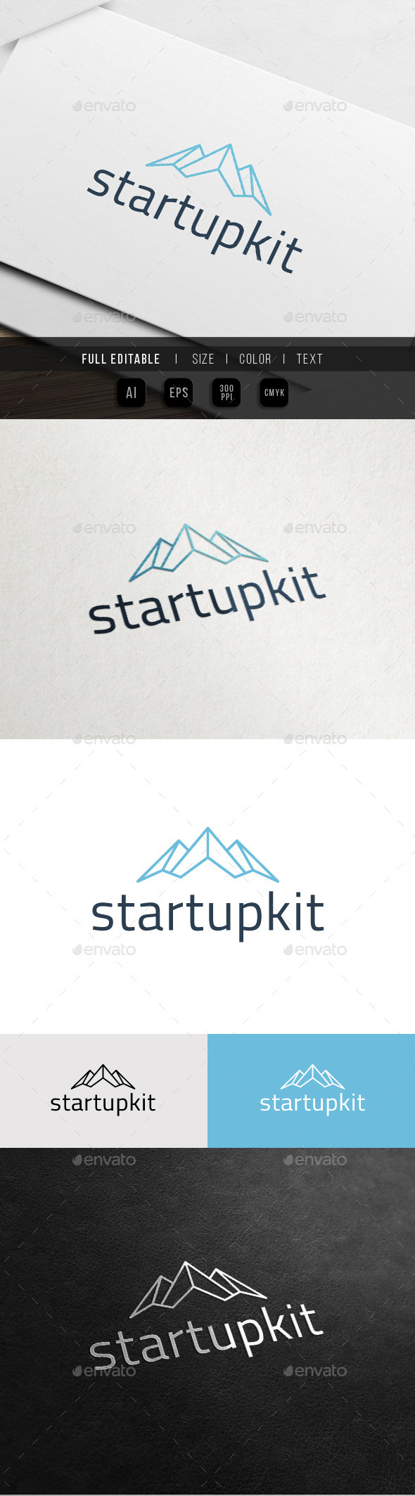 GraphicRiver Mountain Growth Startup Elevate Logo 11068934