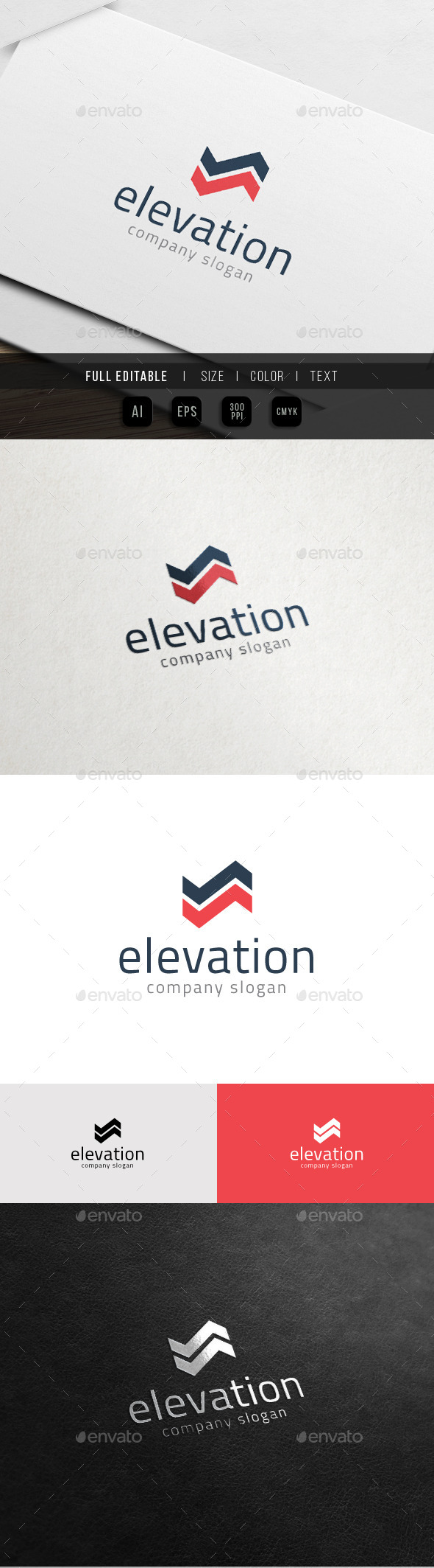 GraphicRiver Up Growth Business Elevation Logo 11068960