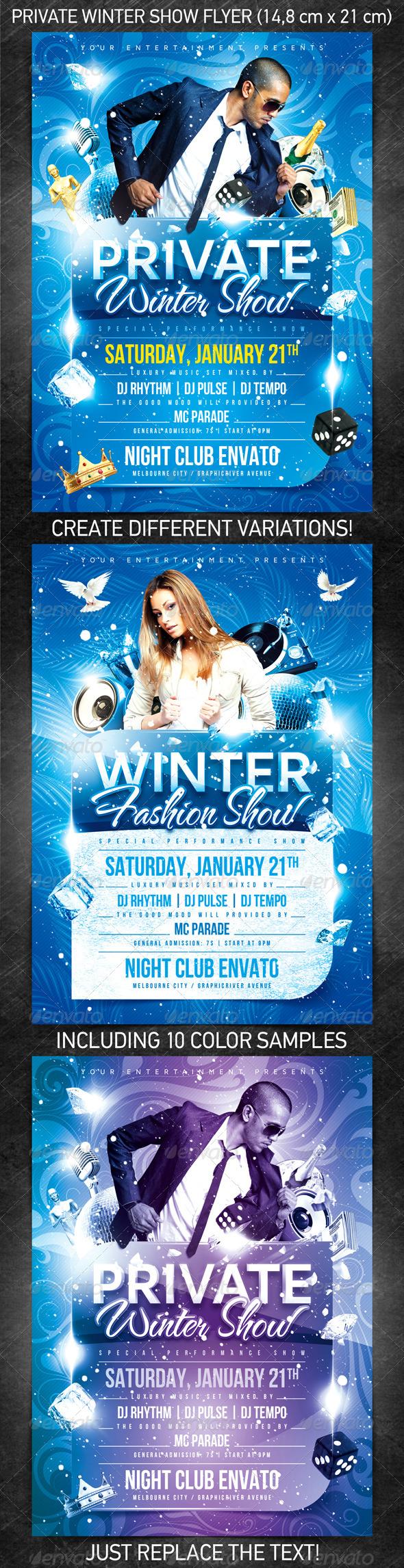 GraphicRiver Private Winter Show Flyer 1107543