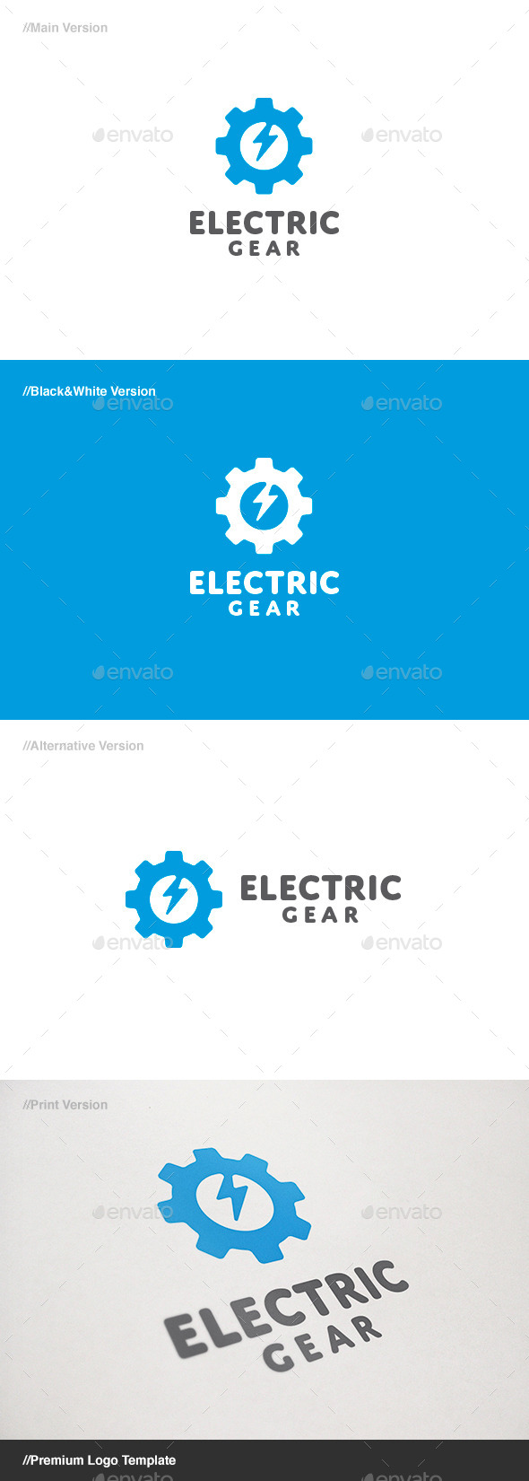 GraphicRiver Electric Gear Logo 11069368