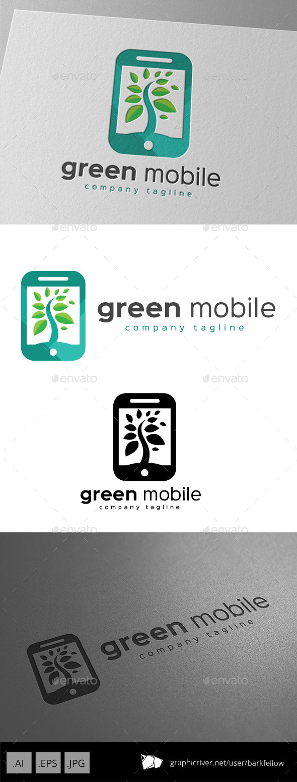 GraphicRiver Green Mobile Logo Design 11069421