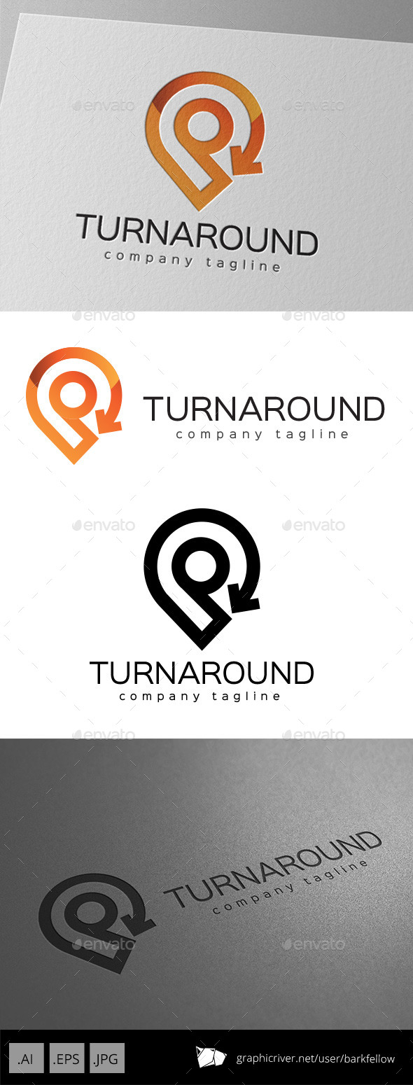 GraphicRiver Turnaround Location Direction Logo Design 11069444