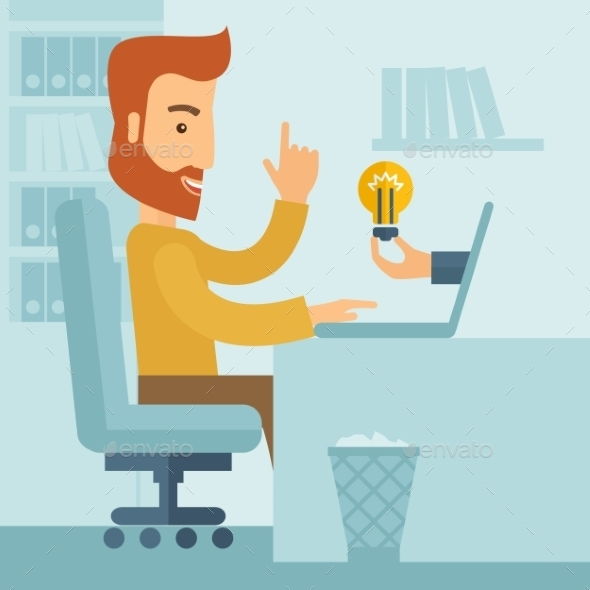 GraphicRiver Businessman Working 11069498