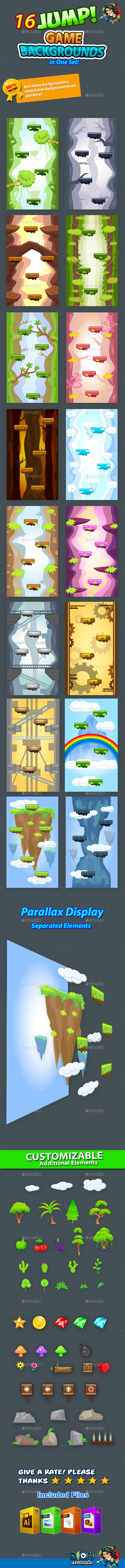 GraphicRiver Jump Game Backgrounds in One Set 11069562