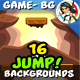 Jump Game Backgrounds in One Set