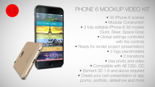 Phone 6 Mockup Video Kit