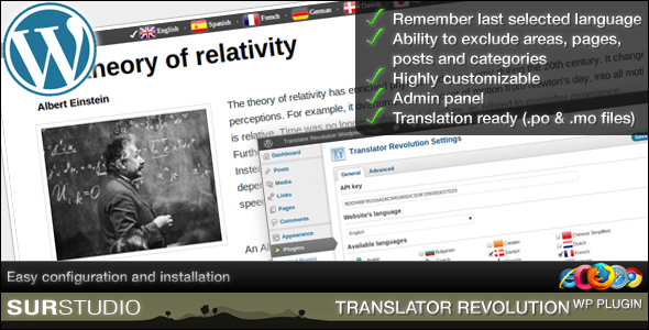 Ajax Translator Revolution Wordpress Plugin - CodeCanyon Item for Sale