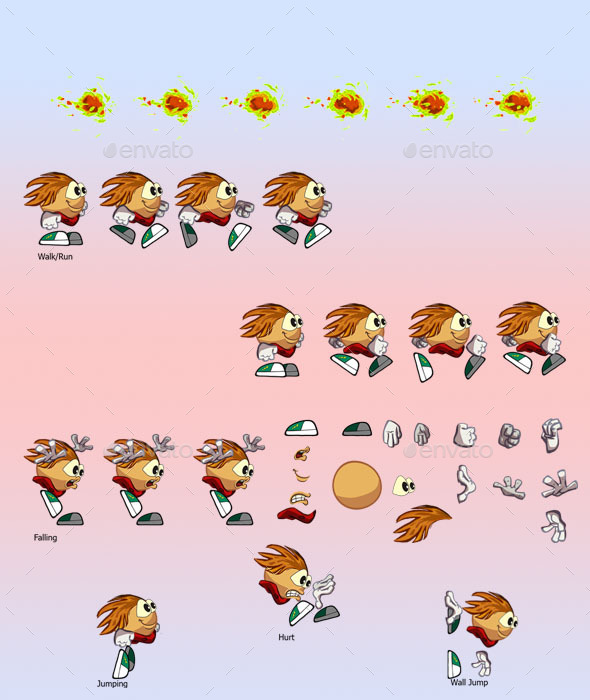 GraphicRiver Cartoon Sprite Player 11069760
