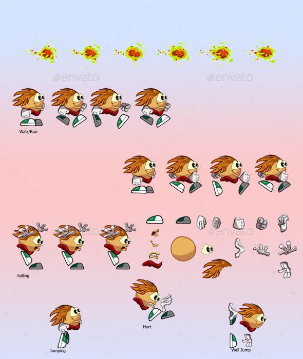 GraphicRiver Cartoon Sprite Player 11069760