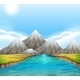 Scenic Landscape with River and Sky - GraphicRiver Item for Sale