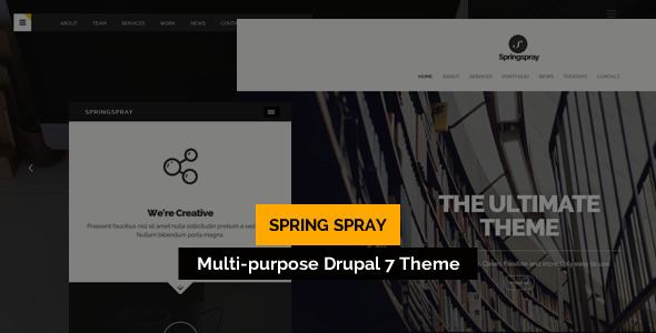 Image of Springspray - Multipurpose Drupal Theme