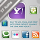 Charming social network icons - ActiveDen Item for Sale