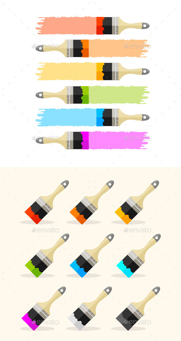 GraphicRiver Multicolored Brushes 11070311