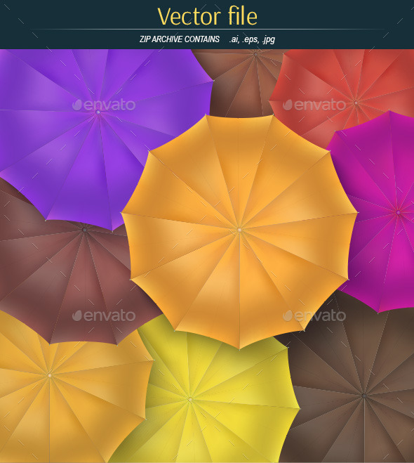 GraphicRiver Background from Colored Umbrellas 11070466