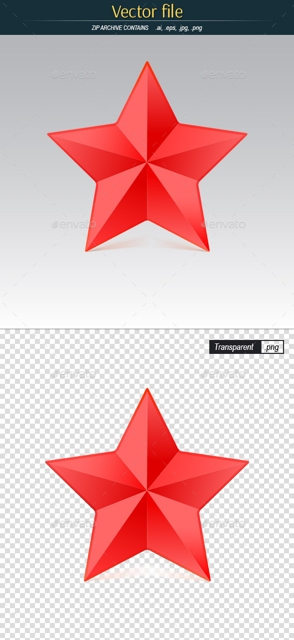 GraphicRiver Red Star 11070517