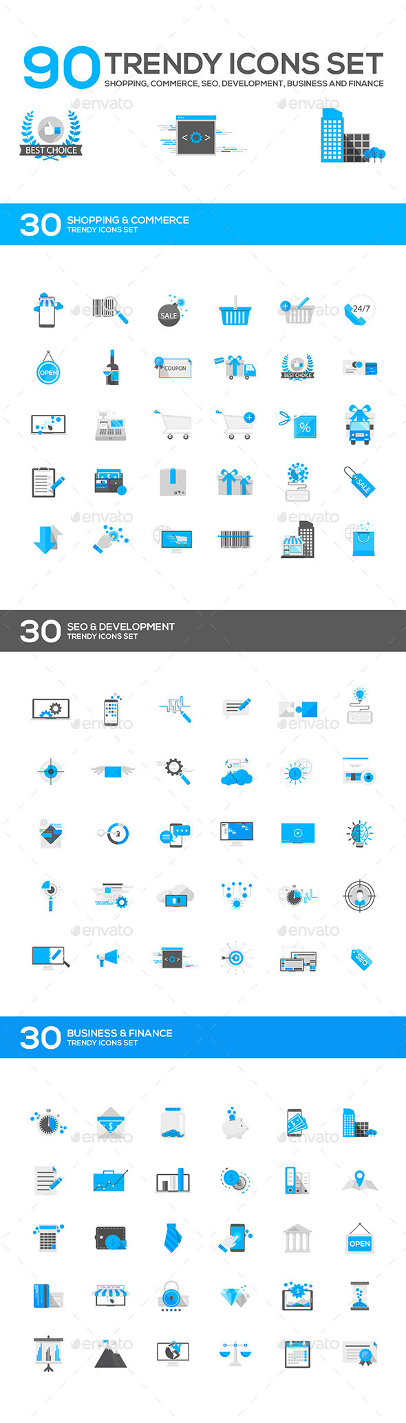 GraphicRiver Set of Modern Flat Design Icons 11070526