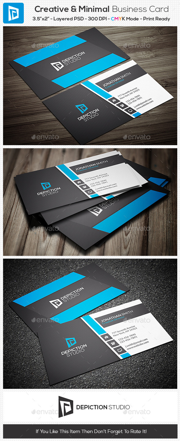 GraphicRiver Creative & Minimal Business Card 11070726
