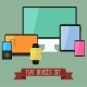 Set of Modern Business UI Devices - GraphicRiver Item for Sale