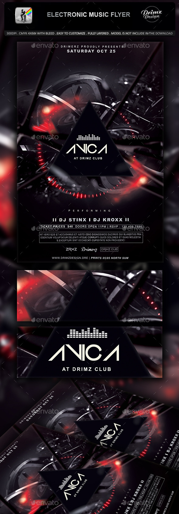 GraphicRiver Electronic Music Flyer 11071176