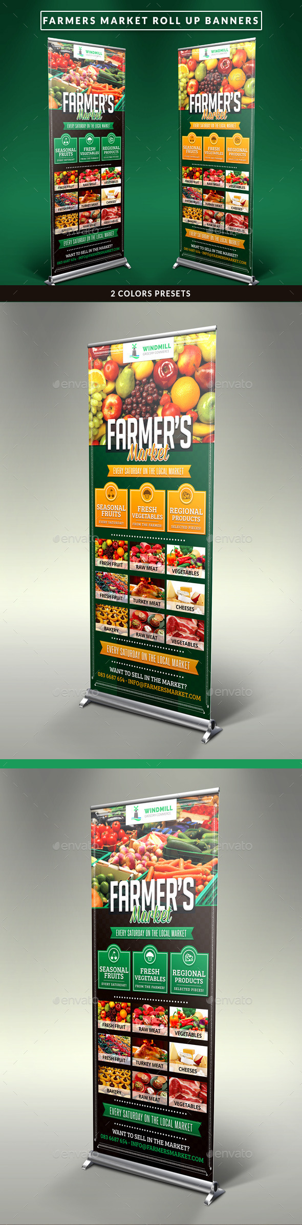 GraphicRiver Farmer s Market Commerce Roll Up Banners 11071296