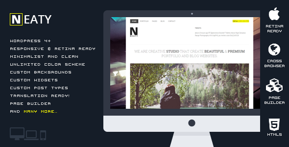 ThemeForest Neaty Responsive Portfolio WordPress Theme 10989323