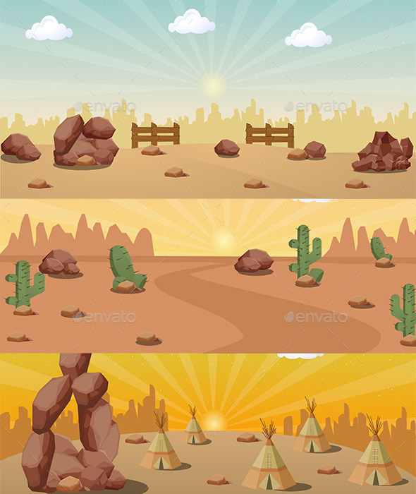 GraphicRiver Desert Wild West BG 11071339