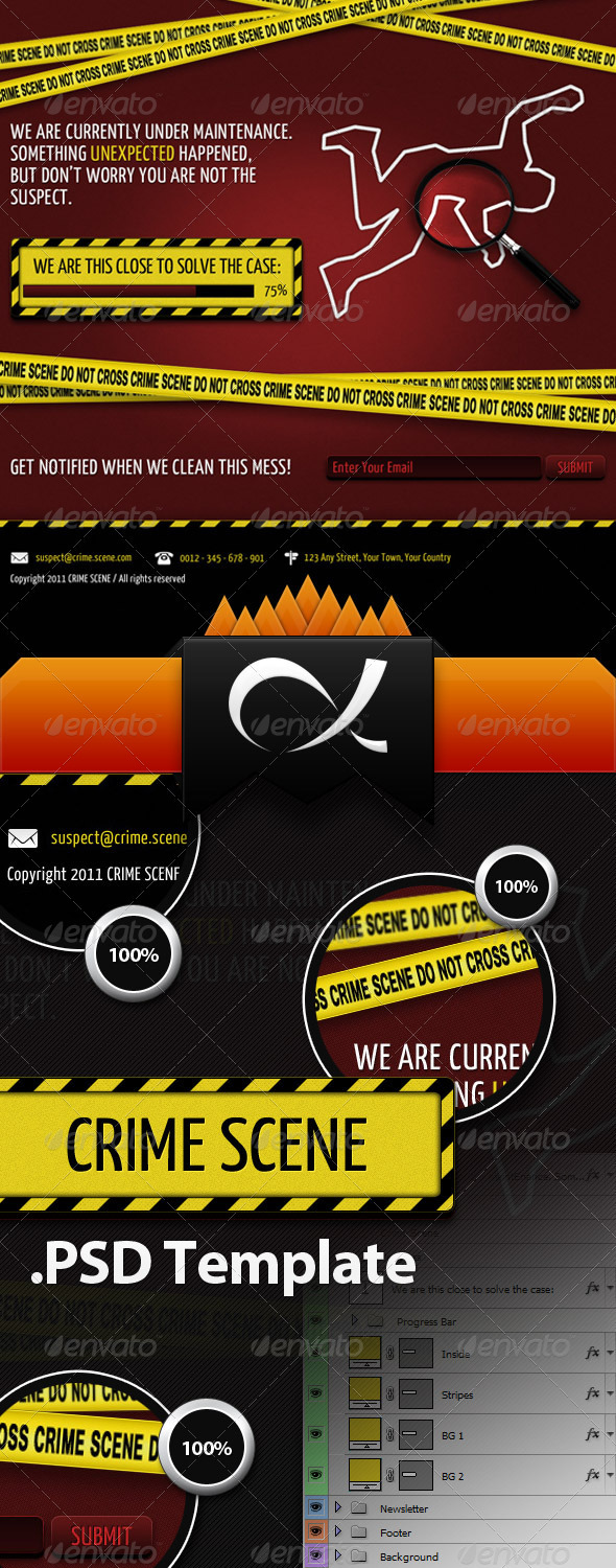 Crime Scene - Coming Soon Page - Miscellaneous Web Elements
