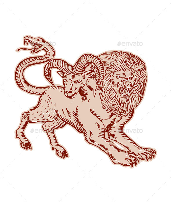 GraphicRiver Chimera Pouncing Etching 11071737
