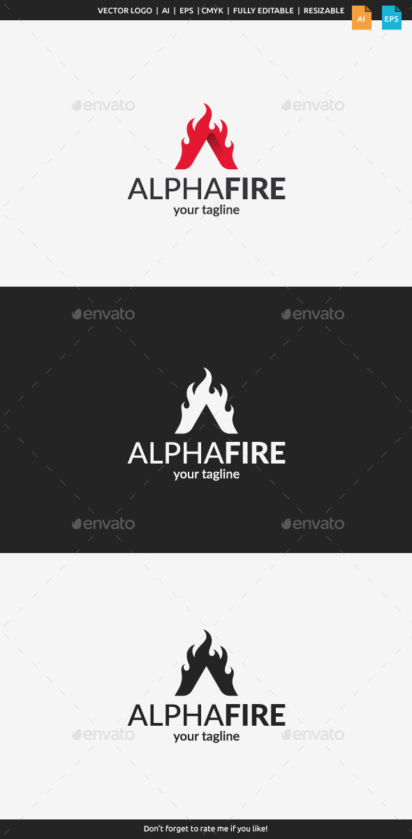 GraphicRiver Alpha Fire Logo 11072216