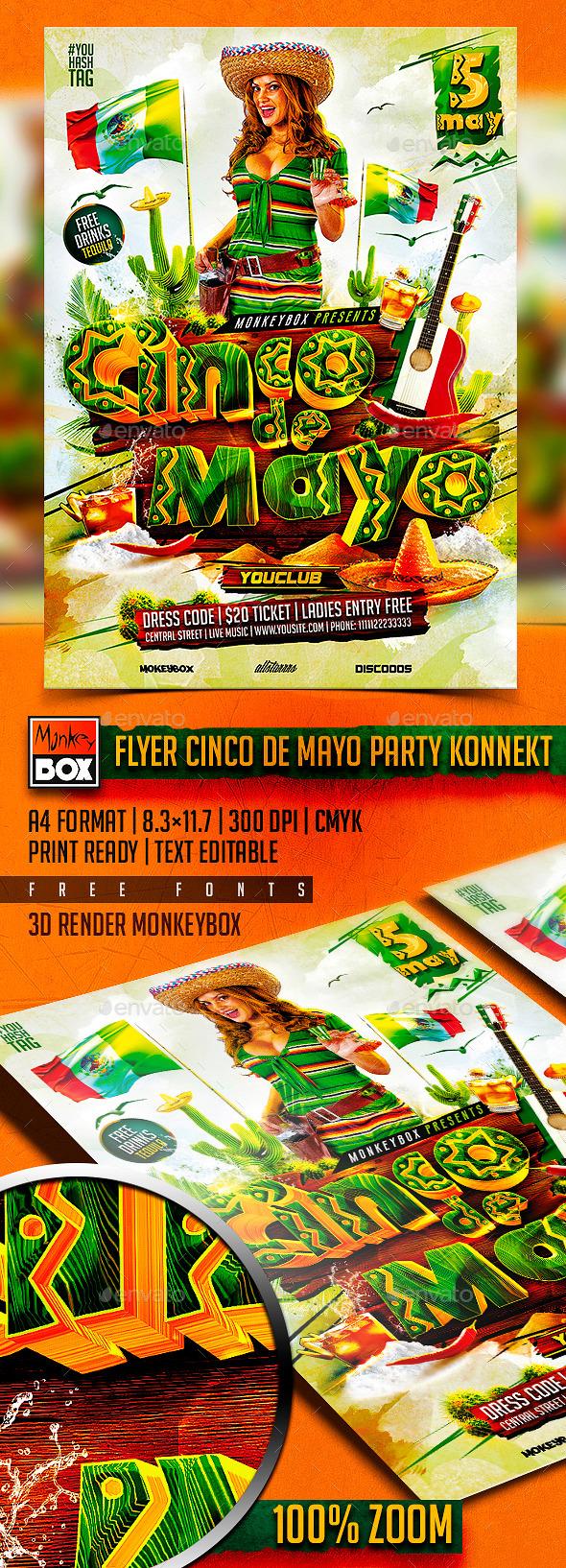GraphicRiver Flyer Cinco de Mayo Party Konnekt 11072333