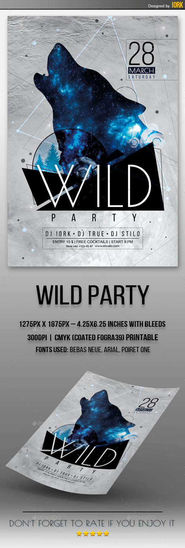 GraphicRiver Wild Party Flyer 11072531