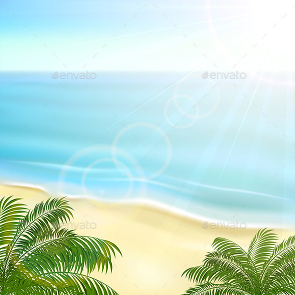 GraphicRiver Beach and Palms 11072697