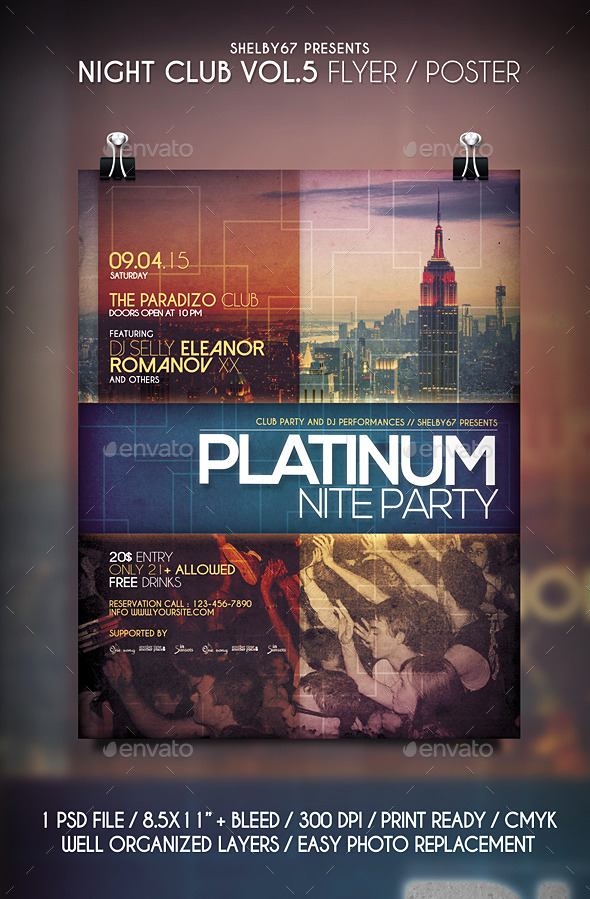 GraphicRiver Night Club Flyer Poster Vol 5 11072738